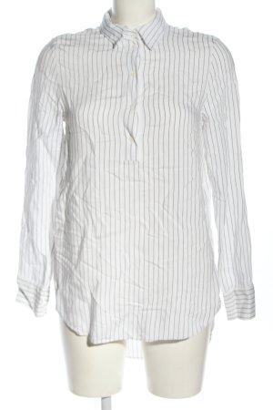 H&M Hemd-Bluse weiß-schwarz Streifenmuster Casual-Look