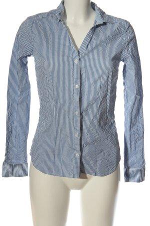 H&M Hemd-Bluse blau-weiß Streifenmuster Elegant