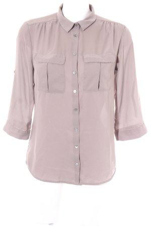 H&M Hemd-Bluse graubraun Business-Look