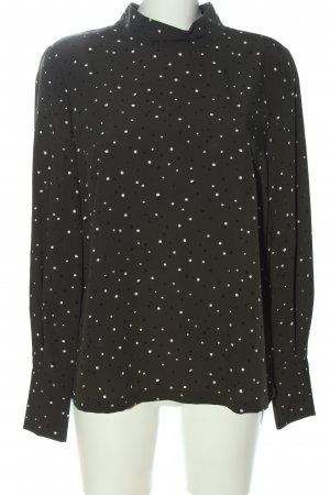 H&M Hemd-Bluse khaki-weiß Allover-Druck Casual-Look