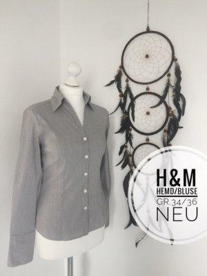 H&m Hemd Bluse Oberteil 34 36 gestreift büro neu blogger vintage Marken