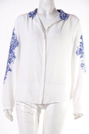 H&M Hemd-Bluse weiß-blau