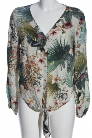 H&M Shirt Blouse white-green allover print casual look