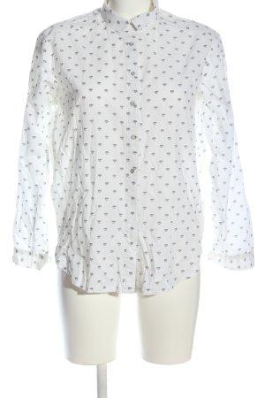 H&M Hemd-Bluse weiß Allover-Druck Business-Look