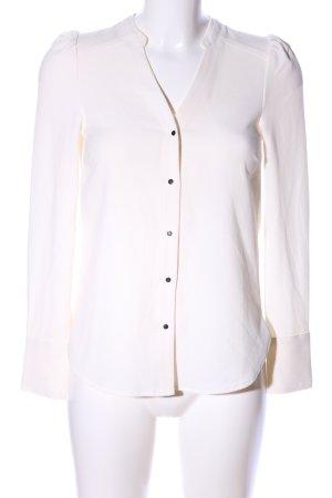H&M Hemd-Bluse wollweiß Business-Look