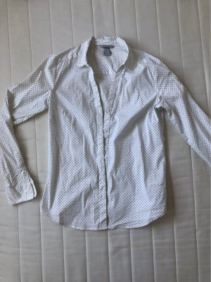 H&M Hemd weiß mit schwarzen Punkten