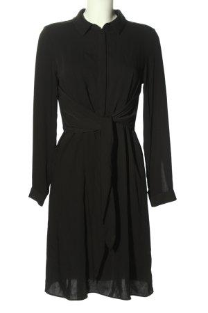 H&M Hemdblusenkleid schwarz Casual-Look