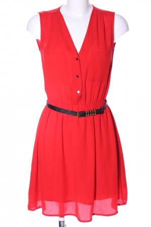 H&M Shirtwaist dress red-black casual look