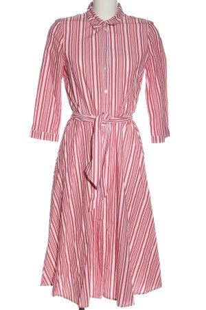 H&M Hemdblusenkleid weiß-pink Streifenmuster Elegant