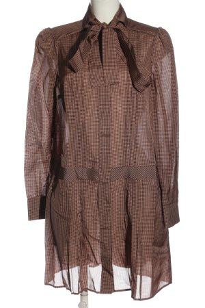 H&M Abito blusa camicia color carne-nero stampa integrale stile casual