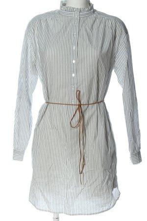 H&M Koszulowa sukienka biały-jasnoszary Wzór w paski W stylu casual