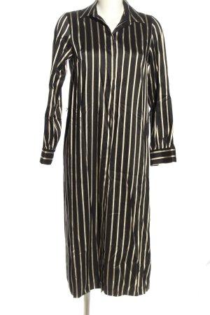 H&M Hemdblusenkleid schwarz-wollweiß Streifenmuster Casual-Look