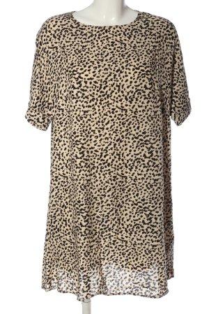 H&M Hemdblusenkleid creme-schwarz Allover-Druck Casual-Look