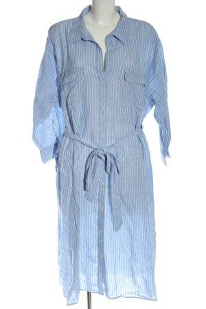 H&M Robe chemise bleu motif rayé style d'affaires