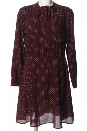 H&M Shirtwaist dress red-white allover print business style