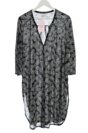 H&M Robe chemise noir imprimé allover style décontracté
