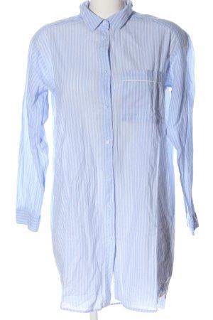 H&M Vestido tipo blusón azul-blanco estampado a rayas look casual