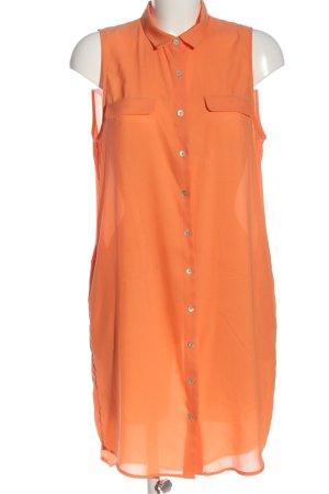 H&M Hemdblusenkleid hellorange Casual-Look