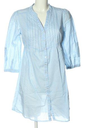 H&M Hemdblusenkleid blau-weiß Streifenmuster Casual-Look