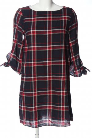 H&M Vestido tipo blusón estampado a cuadros look casual