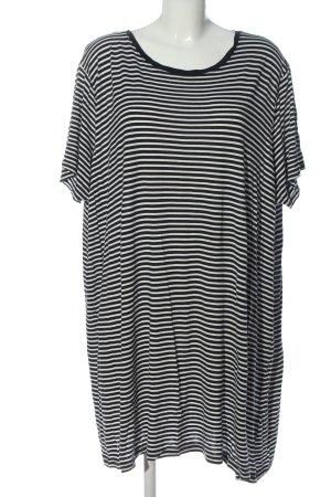 H&M Robe chemise noir-blanc imprimé allover style décontracté