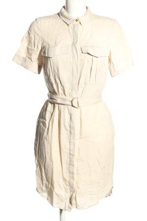 H&M Hemdblusenkleid wollweiß Casual-Look