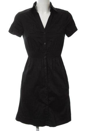 H&M Hemdblousejurk zwart casual uitstraling