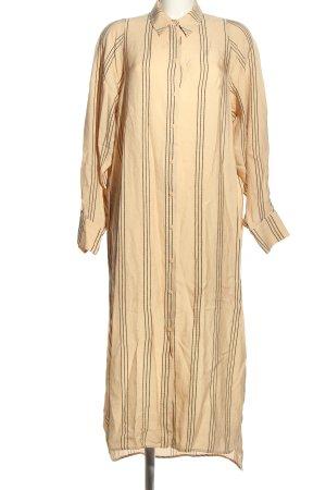 H&M Hemdblusenkleid nude-schwarz Streifenmuster Casual-Look