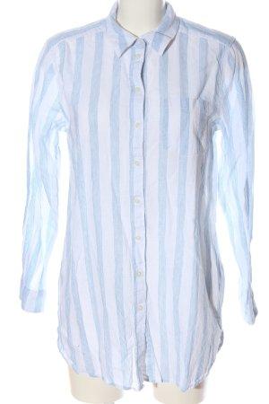 H&M Hemdblusenkleid weiß-blau Streifenmuster Casual-Look