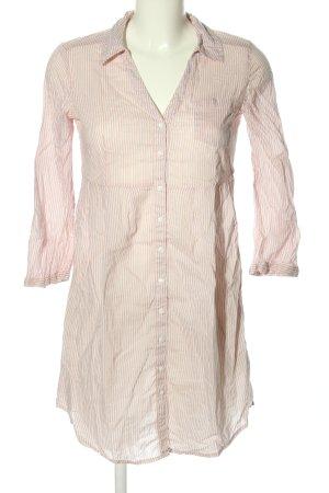 H&M Hemdblusenkleid wollweiß Streifenmuster Casual-Look