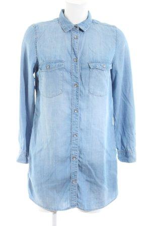 H&M Vestido tipo blusón azul look casual