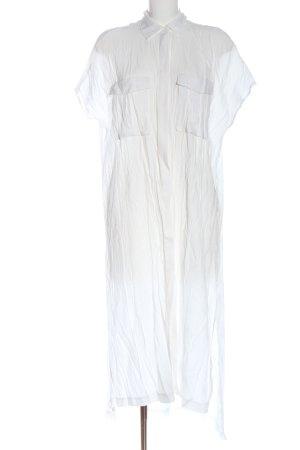 H&M Hemdblusenkleid weiß Casual-Look