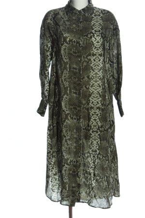 H&M Hemdblusenkleid khaki Allover-Druck Casual-Look