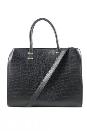 H&M Henkeltasche schwarz Animalmuster Business-Look