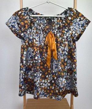 H&M, Hennes & Mauritz Damen Satin Bluse, Mehrfarbig, Größe: 36