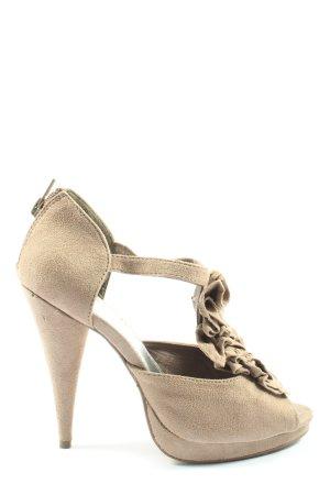 H&M High Heel Sandaletten wollweiß Elegant