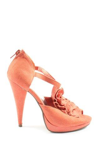 H&M High Heel Sandaletten rot Elegant