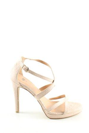 H&M High Heel Sandaletten creme Elegant