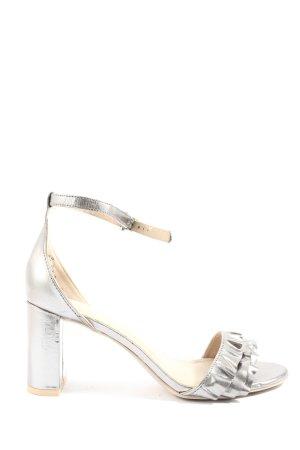 H&M High Heel Sandaletten silberfarben Elegant