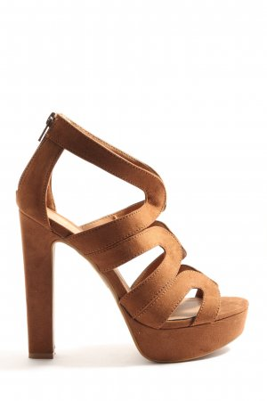 H&M High Heel Sandaletten braun Casual-Look