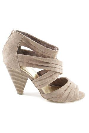 H&M High Heel Sandaletten wollweiß Business-Look
