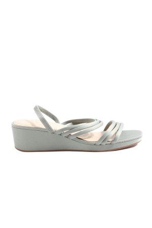 H&M High Heel Sandaletten silberfarben Casual-Look