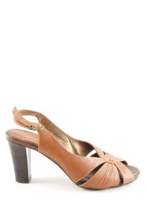 H&M High Heel Sandaletten hellorange-braun Casual-Look
