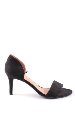 H&M High Heel Sandaletten schwarz Elegant