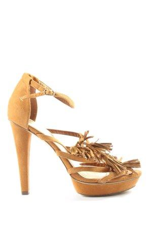 H&M High Heel Sandaletten braun Elegant