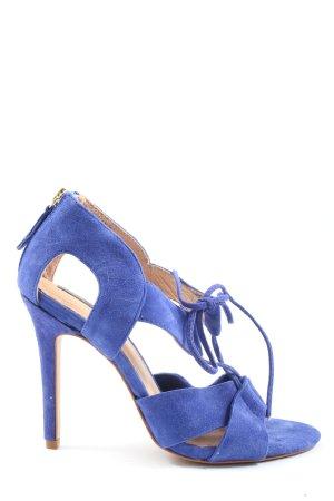 H&M High Heel Sandaletten blau Casual-Look