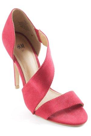 H&M High Heel Sandaletten rot Business-Look