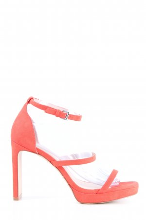 H&M High Heel Sandaletten rot extravaganter Stil