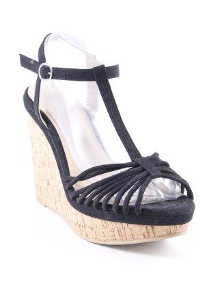 H&M High Heel Sandaletten schwarz Party-Look