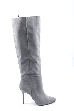 H&M High Heel Boots light grey casual look